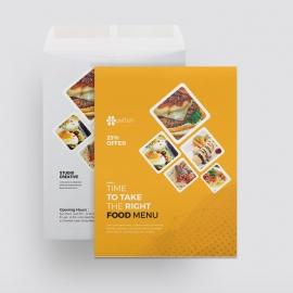 Food and Restaurant Catalog Envelope