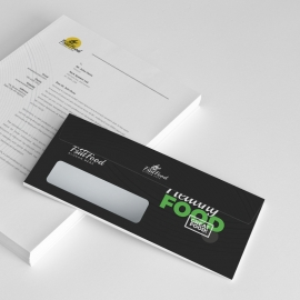 Food and Restaurant Commercial Envelope Template