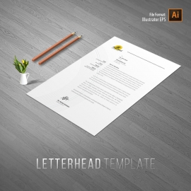 Food and Restaurant Letterhead Template