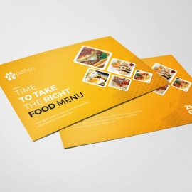 Food and Restaurant Post Card