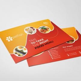Food and Restaurant Postcard