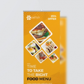 Food and Restaurant Rollup Banner