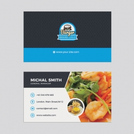 Food & Restaurant Business Card