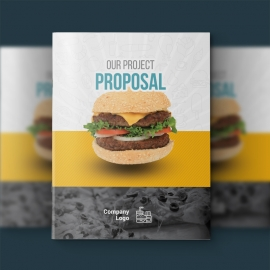 Food & Restaurant Proposal With Yellow Black Accent