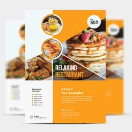 Food & Vegetable flyer