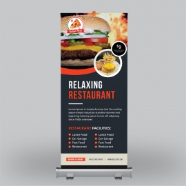 Food & Vegetable Roll-Up Banner