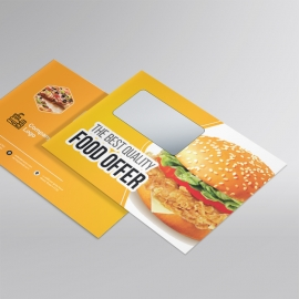 Foods and Restaurant B5 Envelope With Yellow Accent