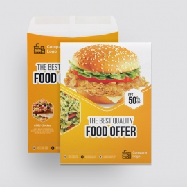 Foods and Restaurant Catalog Envelope With Yellow Accent