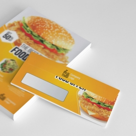 Foods and Restaurant DL Envelope Commercial