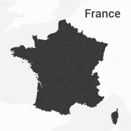 France Map Vector Design