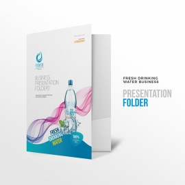 Fresh Drinking Water Business Presentation Folder
