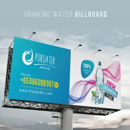 Fresh Drinking Water Outdoor Billboard Signage
