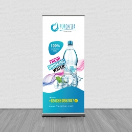 Fresh Drinking Water Rollup Banner Signage