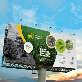Garden Farm agriculture Billboard Banner