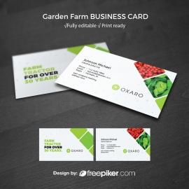 Garden Farm agriculture BusinessCard Template