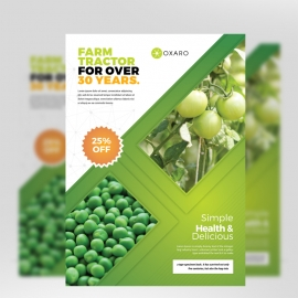 Garden Farm Agriculture Flyer With Green Accent