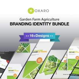 Garden Farm agriculture Identity Stationery Bundle