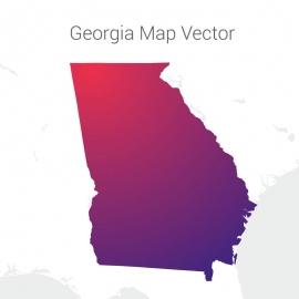 Georgia Map By Gradient Vector Design