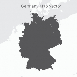 Germany Map Dark Vector Design