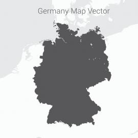 Germany Map Dark Vector Design