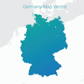Germany Map Gradient Vector Design