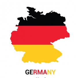 Germany Map Vector Design