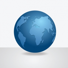 Globe Icon With American Location View