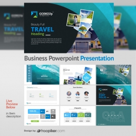 Goingup Powerpoint Presentation With Travel