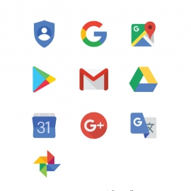 Google Icons With PlayStore Gmail Calendar Translate Photos