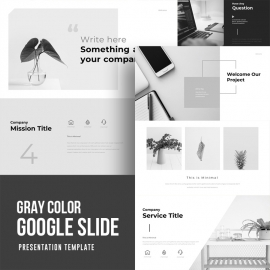 Gray Color Google Slide Template