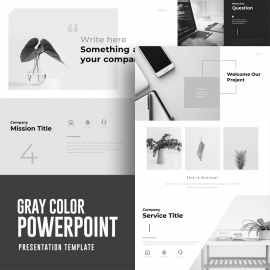 Gray Color Powerpoint Presentation