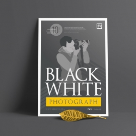 Grayscale Photography Poster Design