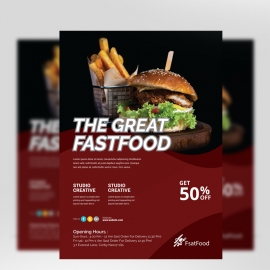 Great Fast Food Flyer