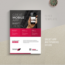 Great Mobile App Flyer Template