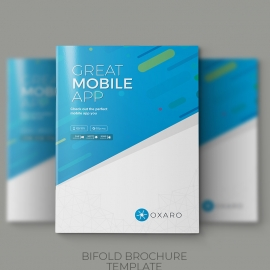 Great MobileApp Bifold Brochure Template