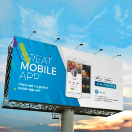 Great MobileApp Billboard Signage