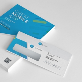 Great MobileApp Commercial Envelope Template