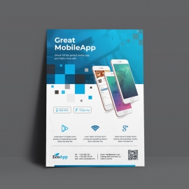Great MobileApp Flyer Template