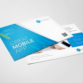 Great MobileApp Postcard Template