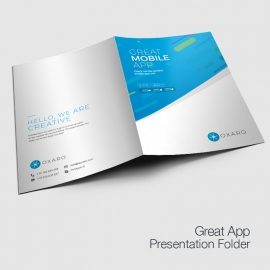 Great MobileApp Presentation Folder Template