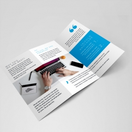 Great MobileApp Trifold Brochure Template