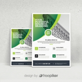 Green Accent Business Flyer  Template