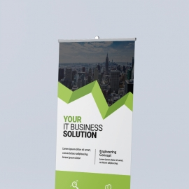 Green Accent Business Rollup Banner
