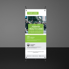 Green Accent Business Rollup Banners