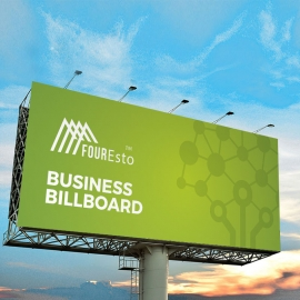 Green Accent Clean Business Billboard Banner