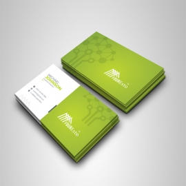 Green Accent Clean Business Card
