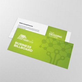 Green Accent Clean Business Compliment Card