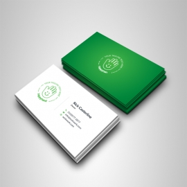 Green Accent Creative Business Card