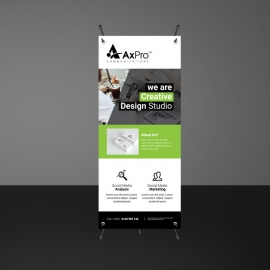 Green Accent Rollup Banner Template