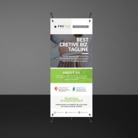 Green Accent Rollup Template
